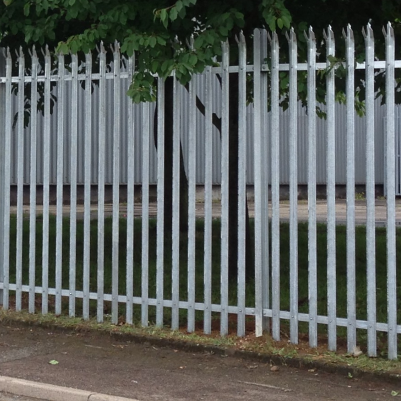 'D' Section Galvanised Palisade