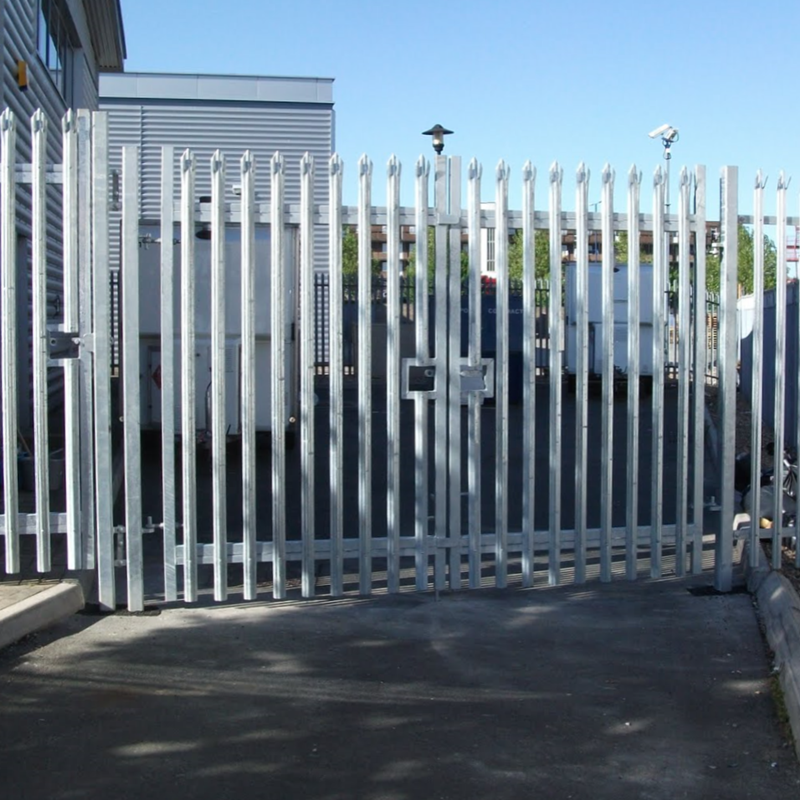 Galvanised Palisade Double Leaf Gates